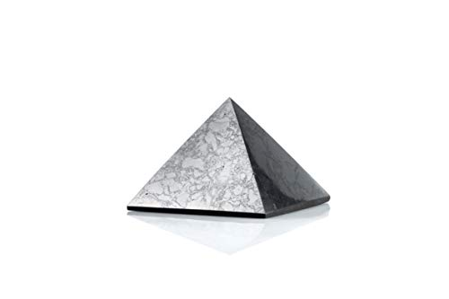 Edel- und Heilstein Schungit direkt aus Karelien: Pyramide 7 cm Poliert, EMF Strahlungsschutz