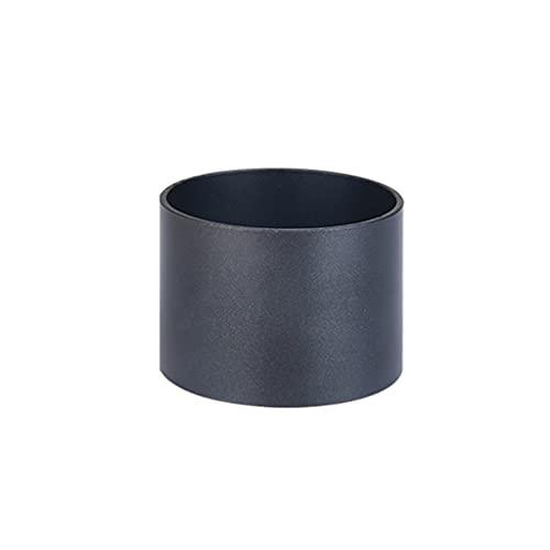 WQXD Molde de horneado de Anillo de Metal, Suministros de horneado Antiadherente, para Mousse de Pan Tiramisu Jelly Cake Horno Cocina Personal Panadería Moldes (Color : Black, tamaño : 2.8x2.8x2inch)