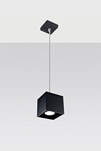Bauhaus Pendelleuchte (Bauhaus, in Schwarz, Rechteckiger Schirm) Schreibtischleuchte Innenleuchte Büroleuchte Hängeleuchte Hängelampe Pendellampe