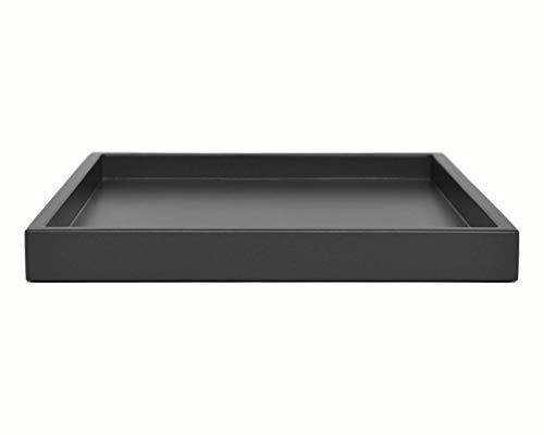 Dark Gray Coffee Table Ottoman Serving Tray without Handles Low Profile Shallow Decorative Butler Server Medium to Extra Large