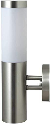 DBLV LED Wand-Außenleuchte mit & LED Leuchtmittel - Edelstahl Außenlampe Hoflampe Gartenlampe Gartenleuchte [Energieklasse A+]