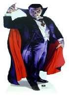 Pappaufsteller Dracula Halloween Standup Figur Kinoaufsteller Pappfigur Cardboard Lebensgroß Life-Size Standup