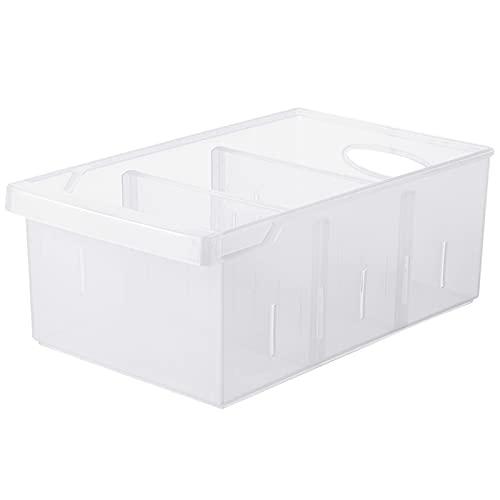 WHAIYAO Caja De Contenedores De Nevera Contenedores De Almacenamiento De Plástico Fruta Verduras Almacenamiento Separado Cesta del Refrigerador(Size:29.5x17x11.8cm-1pcs)
