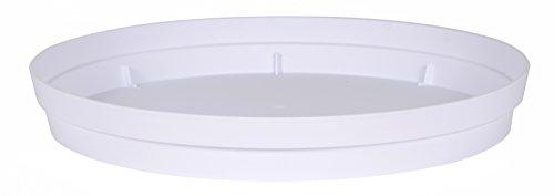 EDA Soucoupe Toscane DIAM 18,5 CM, Blanc, 18,5x18,5x3,6 cm