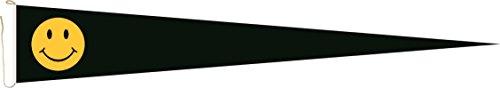 Haute Qualité pour U24 Long Fanion Smily Noir Drapeau 150 x 40 cm
