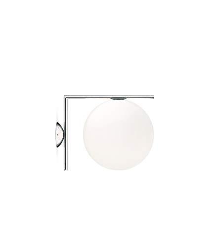 Flos IC C/W2 EU CRO, glas, chroom, 31,6x30x41,6cm