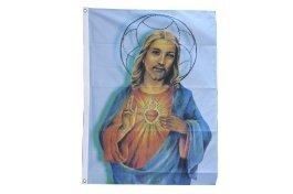 Flaggenfritze® Flagge Jesus mit Stern 90x150cm