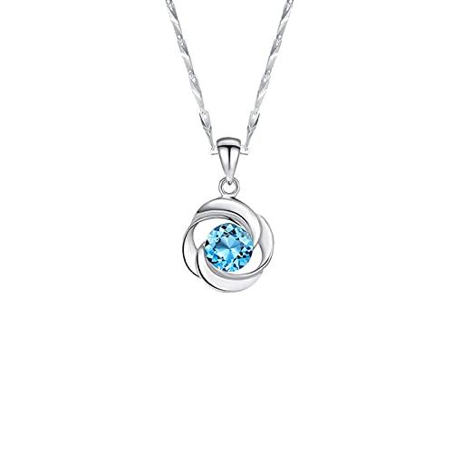 YAZHUANG8 999 Collar de Plata esterlina para Mujeres, joyería de Regalo con una Hermosa Caja para niñas
