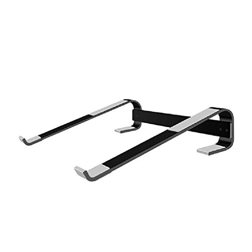 WPBOY Soporte de refrigeración para portátil de aleación de aluminio, soporte ergonómico para computadora portátil, soporte de metal, base de radiador (color: negro, tamaño: corto)