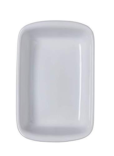 Pyrex 6429 Supreme Tegame Rettangolare, Ceramica, Bianco