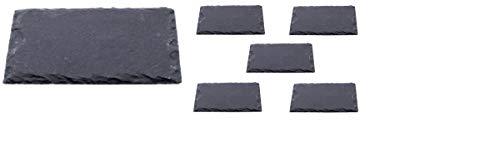 6 x Schieferplatten 30 x 20 cm/Servierplatten, Platzset, Tischset