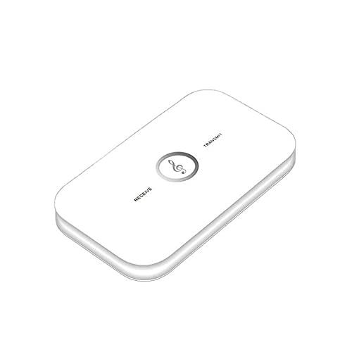 Kuyoly Receptor de audio transmisor 2 en 1 Jack estéreo cifrado 3.5mm para TV PC y equipo de coche adaptador inalámbrico