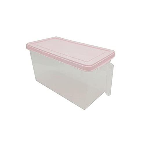ROTAKUMA Cocina De Plástico Refrigerador Caja De Almacenamiento Contenedor De Alimentos Transparente Mantener Frigorífico Almacenamiento Organizador (Color : Pink)