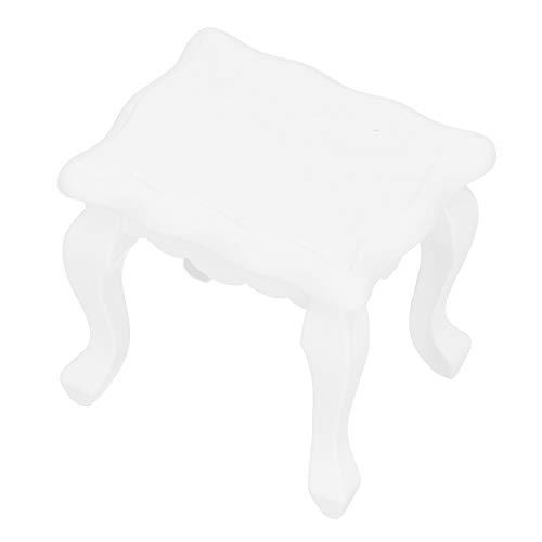 Pssopp 1:12 Puppenhaus Miniatur Weiß Teatable Miniatur Vintage Puppenhaus Möbel Dekoration Mini 1/12 Maßstab Exquisite Holz Teatable für Puppenhaus