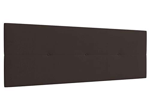 LA WEB DEL COLCHON Cabecero de Cama tapizado Acolchado Camile 160 x 55 cms Apto para Camas de 140, 150 y 160 Textil Poliester Marron Incluye herrajes para Colgar con regulador de Altura