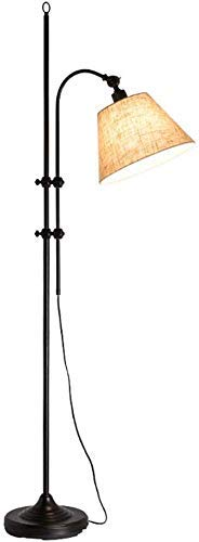 DXXWANG Floor Lamp Reading Decorative Lights,Indoor Lighting Searchlight Large Industrial Style Adjustable,B Black