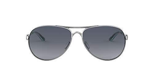 Ray-Ban dames Feedback 407907 zonnebril, zilver/grijs verloop gepolariseerd, 59