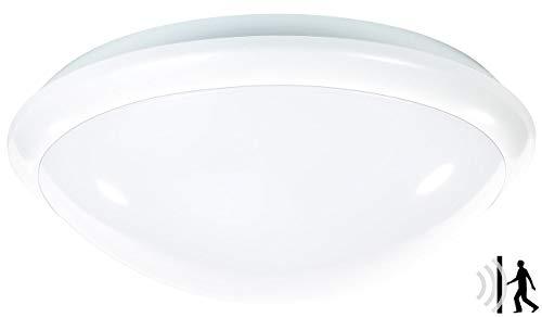 Luminea Deckenleuchte: Deckenlampe mit Radar-Bewegungssensor, E27, max. 60 W, IP44 (Deckenlampe mit Bewegungsmelder)