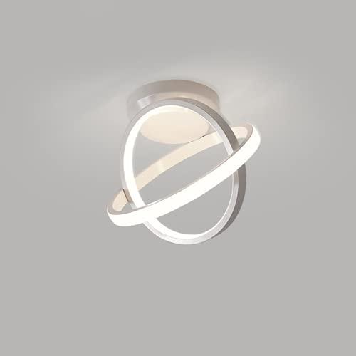 Plafoniera LED, Lampada da Soffitto Moderna, 22W Lampadario LED per Balcone Guardaroba Corridoio, 6500K(Luce Bianca Fredda)