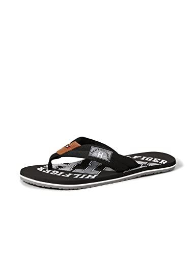 Tommy Hilfiger Essential TH Beach Sandal, Chanclas Hombre, Negro (Black 990), 40 EU