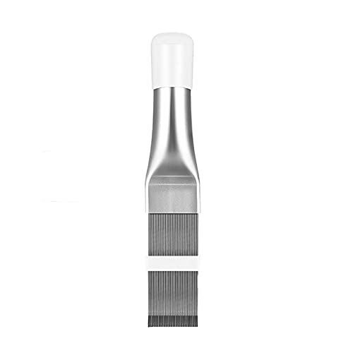 GTRHD Air Conditioning Parts Cleaning Tool Air Conditioner Fin Repair Tool Coil Comb A/C HVAC Condenser Radiator Universal Folding Brush Cleaning Tool and durable (Color : Silver)