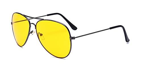 Gafas De Sol De Espejo para Hombres Y Mujeres, Gafas De Piloto, Gafas De Sol con Lentes Espejadas Uv400, Color Gris Y Amarillo