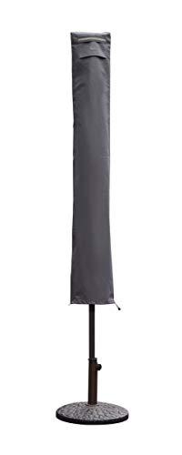 Sekey Schutzhülle für Sonnenschirm, Abdeckhauben für Sonnenschirm,170cm× 27.5/33.5cm, grau