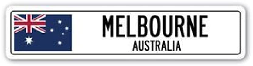 3 Pack: MELBOURNE, AUSTRALIA Street Sign Sticker 3