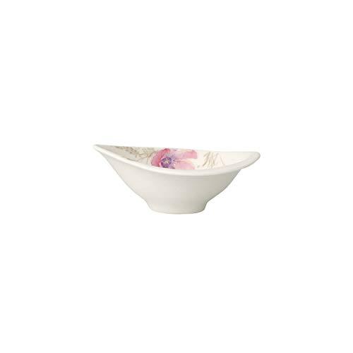 Villeroy & Boch - Mariefleur Gris Serve & Salad Dipschälchen, Schälchen für Brunches und Büffets, Premium Porzellan, 12 x 8 cm, weiß/bunt