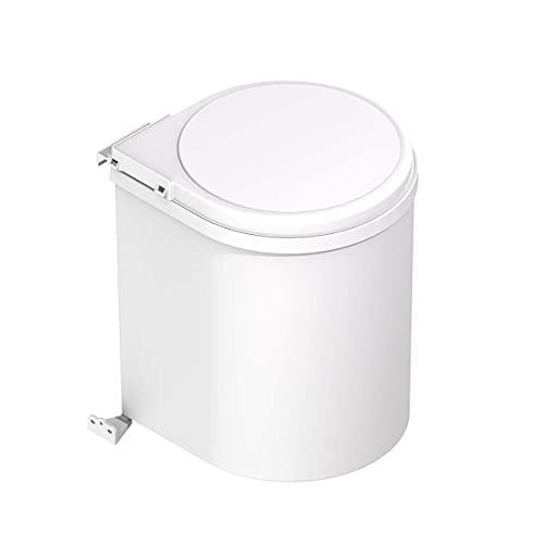 Cubo de basura redondo y giratorio para armario de cocina - Capacidad 13L