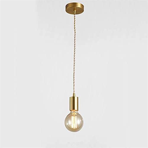 FHW Luz de techo Colgante de colgante Vintage Colgante Colgante de techo Lámpara de techo E27 Soporte de lámpara Lámpara de suspensión 1.5m (59 pulgadas) Cable para sala de estar Dormitorio lámpara de