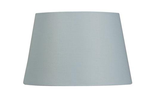 Oaks Lighting lampenkap van katoen, trommelvormig, 25,4 cm, lichtblauw