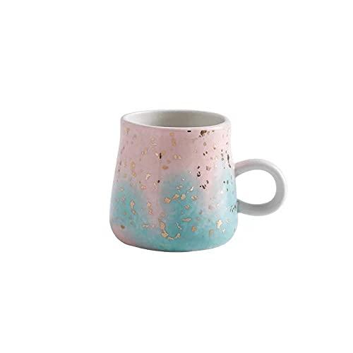 mglxzxxzc Taza De Cerámica De Acuarela Nórdica, Taza De Café, Leche, Cielo Estrellado, Taza De Desayuno, Púrpura