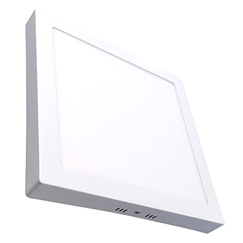 Plafon Led Cuadrado Superficie 20W. Color Blanco Frio (6500K). Panel Cuadrado. 1800 Lumenes. A++