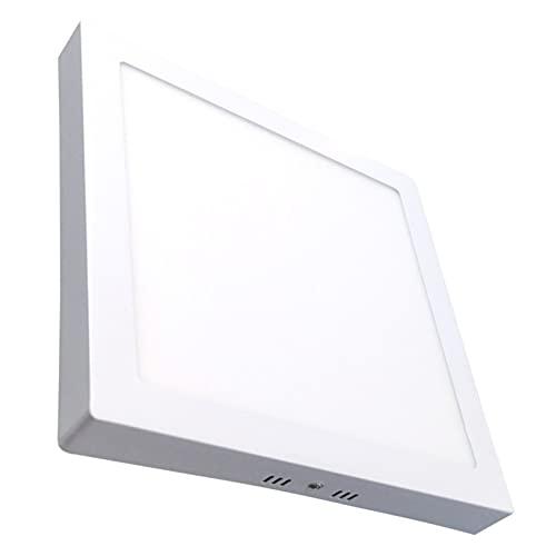 Plafon Led Cuadrado Superficie 20W. Color Blanco Frio (6500K). Panel Cuadrado. 1800 Lumenes.