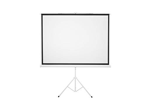 EUROLITE Projektionsleinwand 4:3 1,72x1.3m mit Stativ | Stativleinwand für Video- und Bildprojektion im eigenen Zuhause, Büro, Konferenzraum, Klassenzimmer oder auch im Freien