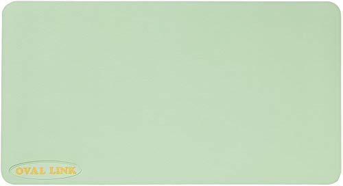 滑り止めマット オーバルリンクL(ロング)サイズ 1枚 カラー:ライトグリーン 抗菌・防カビ加工 青森ひばの香り (L2.5m)
