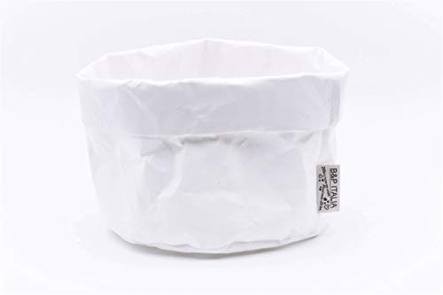 B&P Italia Bolsa panera Stockholm Fibra de celulosa, Blanco, diámetro 19 x 12 cm