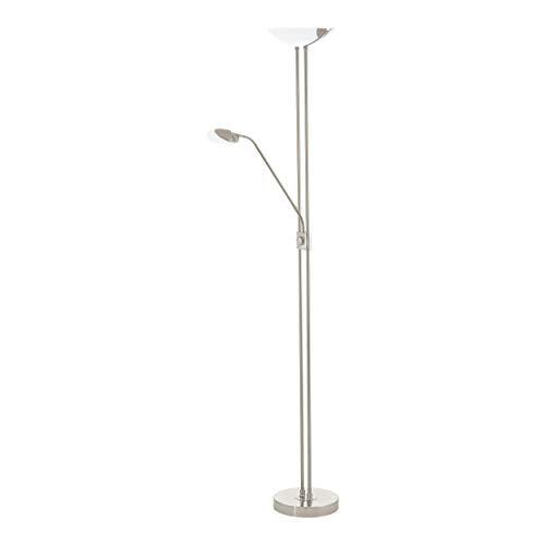Preisvergleich Produktbild EGLO BAYA LED Stehleuchte,  Stahl,  20 W,  nickel-matt