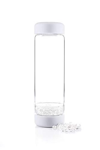 inu! CRYSTAL - Die Wasserflasche mit Edelsteinen für Individualisten | naturweiss