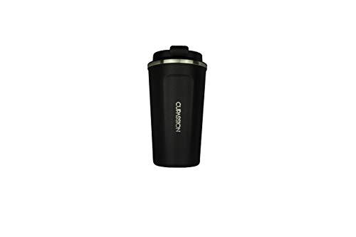 CUPASSION Ecology - Carbon Black 480ml | Kaffeebecher | auslaufsicher | doppelwandiger Edelstahl | Coffee to-go | Tee Isolierbecher | Travel Mug