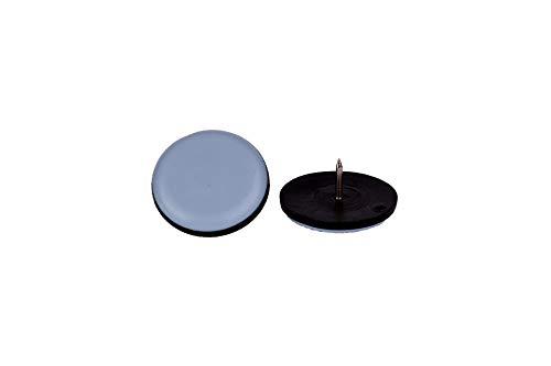 16 Stück Teflon-Möbelgleiter rund mit Nagel Ø 19 mm – 5 mm dick/PTFE-Beschichtung/Teflongleiter/Stuhlgleiter