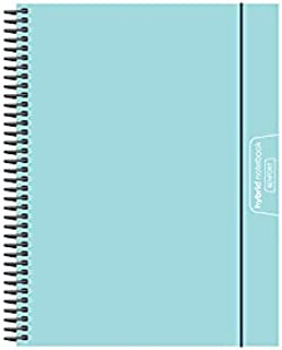Senfort Cover Polypropylene Unicolour A4 120 Sheets 4 Colours Paper 90 GRS Notebook with Elastic and Pocket, No. 18 Turquoise