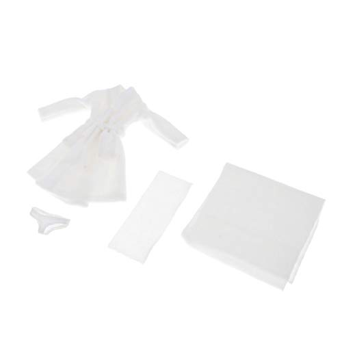 F Fityle 1: 6 Scale Womans Bademantel Nachthemd Loungewear Nachtwäsche für 12 Zoll