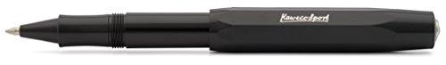 Kaweco Skyline Sport Schwarz Gel- / Kugelschreiber inklusive 0,7 mm Rollerball Tintenroller Mine für Linkshänder & Rechtshänder im klassischen Design mit Keramikkugel I Gelroller 13,5 cm
