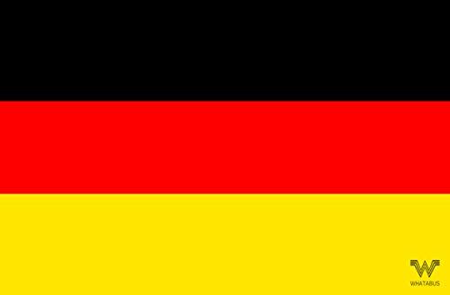 WHATABUS Deutschland Flagge Aufkleber - Länderflagge als Sticker 8,5 x 5,5 cm
