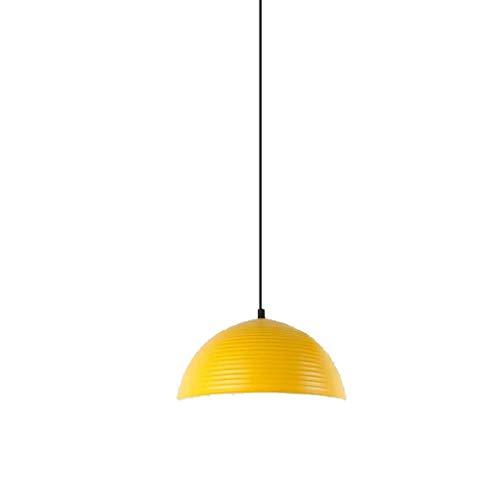 WEM Lámpara de araña de restaurante con personalidad creativa de Color minimalista moderno de una sola cabeza, mesa de bar, mesa de comedor, lámpara de pantalla,Amarillo