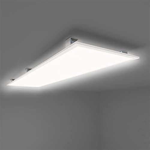 Allesin LED Panel Deckenleuchte 120x30cm Neutralweiss 4000K Ultraslim 40W inkl. Trafo und Befestigungsmaterial für Büroräume, Flure, Küche, Badezimmer, Keller, Verkaufsräume