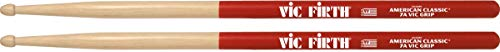 Vic Firth 7A American Hickory Vic Grip Wood Tip Drumsticks