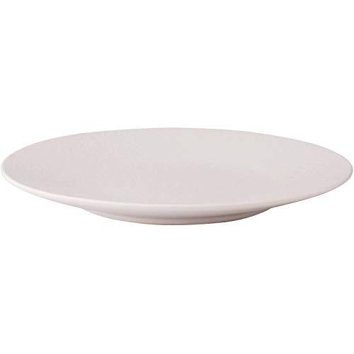 4 x Teller flach Speiseteller Keramik, weiß, Ø 21 cm, Höhe: 1.5 cm
